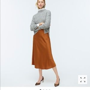 J.Crew pull on slip skirt Adobe NWT M